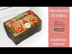 Jewelry box decoupage tutorial - YouTube