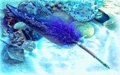 Plume bleue