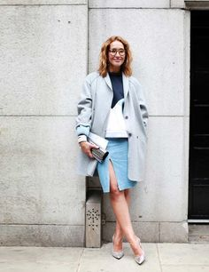 Tiany Kirkiloff carrying the SWEETIE clutch at LFW