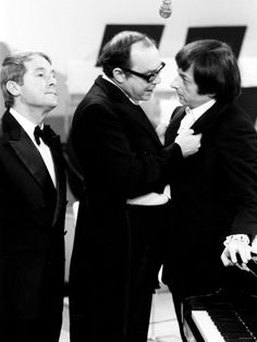 "Morecambe and Wise with 'Andrew Preview'..... "" I'm playing all the right notes, but not necessarily in the right order!"""