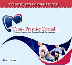 Oral health is our top priority.  At Texas Premier Dental we are committed to provide the highest quality of dental care.