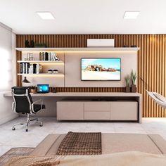 Bedroom Bed Design, Bedroom Furniture Design, Home Room Design, Home Bedroom, Home Living Room, Home Office Setup, Home Office Space, Living Room Tv Unit Designs, Suites