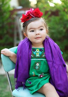 What my baby will be for Halloween Frida Kahlo… | A Little Girl Named Willow's Costume Game Has Already Won Halloween