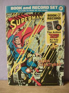 vintage Superman comic book and record set Alien by ShoponSherman, $14.00 love it! #ecrafty