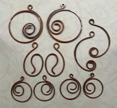 Hand Forged Copper Earring Components  Set of Ten by SunStones
