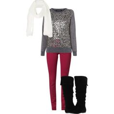 """""""Casual Christmas"""" by kayla-846 on Polyvore"""