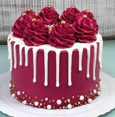 #ideas de tortas fáciles Cake Decorating Designs, Creative Cake Decorating, Cake Decorating Videos, Birthday Cake Decorating, Cake Decorating Techniques, Creative Cakes, Cake Decorating Frosting, Birthday Cake Designs, Cake Decorating Amazing