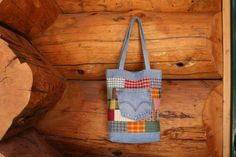 Patchwork denim tote bag patchwork bag patchwork by SewManyScraps
