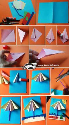 Summer Crafts For Preschoolers Kindergarten - Summer Paper Crafts For Kids, Preschool Crafts, Diy For Kids, Preschool Learning, Preschool Kindergarten, Cute Crafts, Diy And Crafts, Arts And Crafts, Arte Elemental