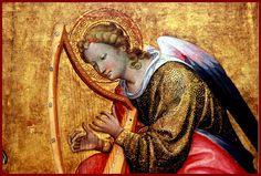 Gherardo Starnina - Angeli musicanti, 1400-1410. Frammento di un'ancona. Museum Boijmans Van Beuningen, Rotterdam.