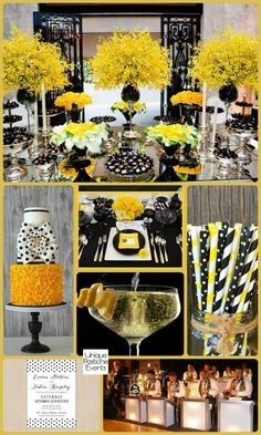 Pops Of Polka Dots Soiree Inspiration IdeaBoard InspirationBoard Dot Wedding Yellow