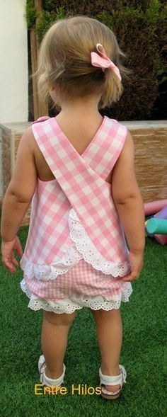 ideas for sewing clothes kids toddlers dress patterns Little Dresses, Little Girl Dresses, Girls Dresses, Lace Dresses, Sewing For Kids, Baby Sewing, Fashion Kids, Fashion 2014, Fashion Online