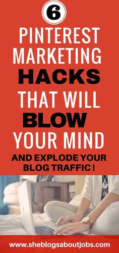 Click this image to learn some clever pinterest marketing hacks that will help grow your blog traffic and hep you make more money blogging| Social media marketing | How to improve your social media strategy| New bloggers tips and tricks to grow your blog and finally start making money from your new blog!