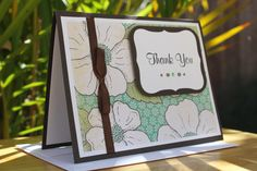 Handmade floral card by CraftedbyLizC.