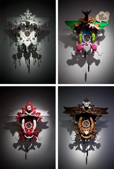 "Stefan Strumbel's ""Deine Heimat"" Cuckoo Clocks"