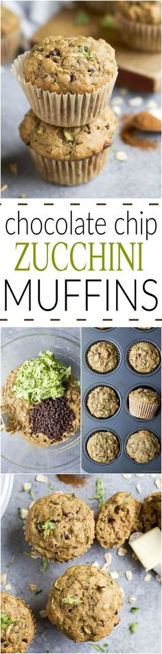 Chocolate Chip Zucchini Muffins – it's the Zucchini Recipe you've been waiting for! These muffins are moist, healthy from a few simple swaps, and down right deliciously addicting! They'll be on repeat every week! | joyfulhealthyeats.com