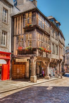 Dinan - a beautiful old town, definitely one to discover and explore during your stay! www.dreamgites.com