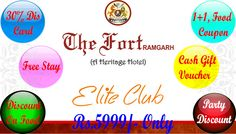 ELITE CLUB MEMBERSHIP - The Fort Ramgarh, Get Up To 40% Discount. For More Details About ELITE CLUB MEMBERSHIP Please Call Us [+91 9814222845, +91 9316293162] Or Visit http://goo.gl/byw6M8