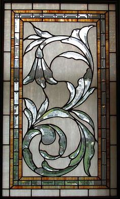 Sunflower Glass Studio stained glass window with bevels. Has a real William Morris feel to it. Stained Glass Door, Stained Glass Crafts, Stained Glass Designs, Stained Glass Panels, Stained Glass Patterns, Leaded Glass, Beveled Glass, Mosaic Glass, Etched Glass