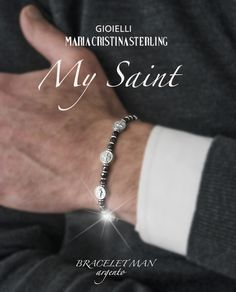 bracelet infinity my Saint silver luxury man made in Italy http://shop.mariacristinasterling.it