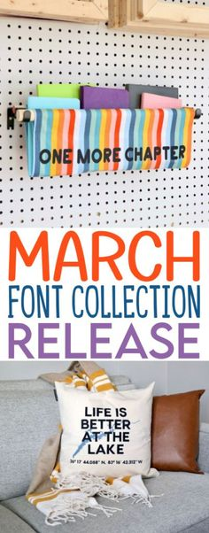We cannot wait to show you our new March Font Collection Release! We have a few craft projects to share with you as inspiration using some of our new fonts too. You're going to love these! #cricut #cricutexplore #cricutmaker #cricutmade #cricutprojects