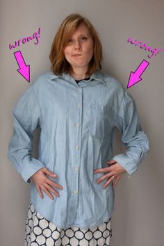 How To Re Fit a Button Down Shirt...To Your Size!