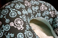 Boppy Pillow Cover: Bicycle Ride. $26.00, via Etsy.