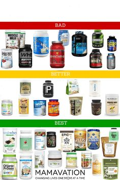Best Protein Powders: Which Brands are Better For Your Family? - MAMAVATION You care for your the health and well being of your family so make sure you are choosing the best protein powders from the wide range available. Protein Muffins, Protein Snacks, Protein Dinner, Protein Shake Recipes, Healthy Protein, Healthy Sweets, Protein Desserts, Protein Powder Recipes, Energy Snacks