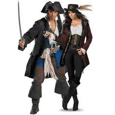 Jack Sparrow y Angélica vestuario (Piratas del Caribe)