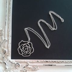 Hey, I found this really awesome Etsy listing at https://www.etsy.com/listing/194346424/silver-rose-necklace