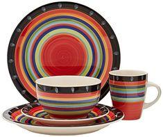 Dinnerware Sets  sc 1 st  Pinterest & Gibson Elite Pueblo Springs 16-Piece Dinnerware set  Kitchen ...