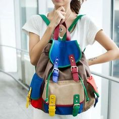 Color-Block Backpack from #YesStyle <3 TAIPEI STAR YesStyle.com