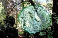 Erica Lüttich & Boitumelo, 'Spider's Web'. As a textile and craft artist, many of Erica's projects involve a collaborative process and ongoing dialogue between herself and Boitumelo participants who engage participating artists and the visiting public with their own perspectives and experiences.  #JoziLandArt on 5&6 April 2014 #LandArt https://www.facebook.com/JoburgParks