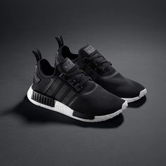 "adidas Originals on Instagram  ""Elastic design harnesses the energy of  BOOST in the new  NMD with an all black knitted upper and mid-sole blocking. 37b21c633"