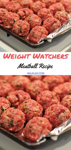 Weight watchers Meatball Recipe // Source by Weight Watchers Desserts, Weight Watchers Meatball Recipe, Weight Watcher Dinners, Weight Watchers Recipes With Smartpoints, Weight Watcher Recipes, Healthy Recipes, Skinny Recipes, Meat Recipes, Appetizer Recipes