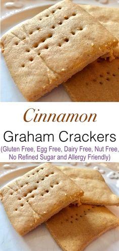 Delicious Cinnamon Graham Cracker Cookies!!! Vegan, Gluten Free, Egg Free, Nut Free, Dairy Free and Allergy Friendly!