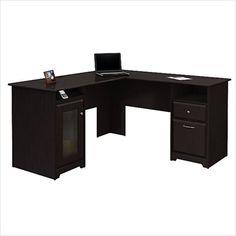 "Bush Cabot 60"" L-Shape Computer Desk in Espresso Oak - WC31830-03K"
