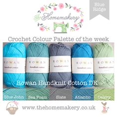 Crochet Colour Palette: Blue Ridge - The Homemakery Blog