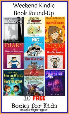 10 FREE Kindle Books for Kids | embarkonthejourney.com