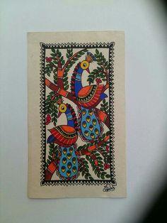 Madhubani Paintings Peacock, Kalamkari Painting, Madhubani Art, Indian Art Paintings, Gond Painting, Fabric Painting, Canvas Art Projects, Indian Folk Art, Art N Craft