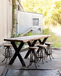love- old wood table