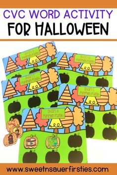 Are you looking for a fun and easy low prep activity for fall and Halloween? This fall print and go activity is a fun and engaging way for students to practice their short vowel CVC words. A hands-on literacy center idea that students will LOVE to complete. There are CVC sorting mats for each vowel along with pumpkin outlines to let students know how many of each pumpkin they will need. This will not only help students practice their CVC words but also sounding out words & blending words.