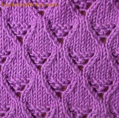 Lace basket knitting stitch