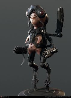 little alien (test) by Ali Zafati | 3D | CGSociety