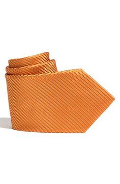 Groomsmen: Nordstroms - Diagonal stripes, silk orange tie.