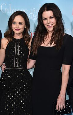 Actors Alexis Bledel and Lauren Graham attend the premiere of Netflix's 'Gilmore Girls: A Year in the Life.'