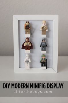 All for the Boys - All for the Boys - DIY LEGO MinifigDisplay - I'm really addicted to StarWars Minifig - and so I'm collecting them - but how to preset them (to my audience?!) You don't know - visit this post and then you'll. Really great and cute diy.