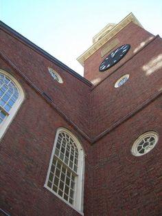 The Old North Church in Boston, Massachusetts