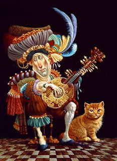 James Christensen -- Serenade Orange Cat