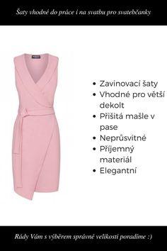 Pouzdrové šaty Zola, růžové